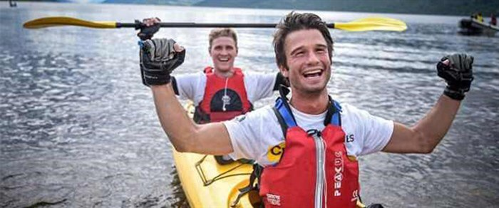 Kayaker With Bronchiectasis and Friend Cross Loch Ness in Record Time To Support CF Trust