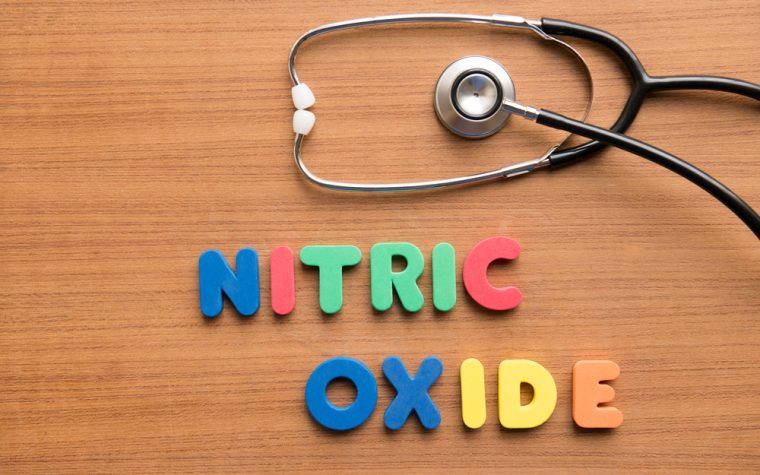 Patient dosed with nitric oxide